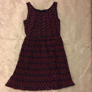 Gap Printed Fit and Flare Dress